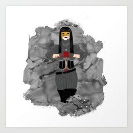 Nevernight Mia Corvere Art Print