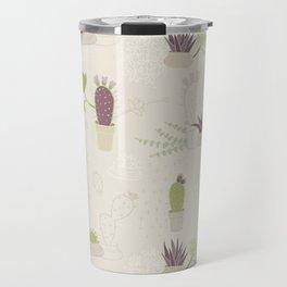 My Potted Cactus Pattern Travel Mug
