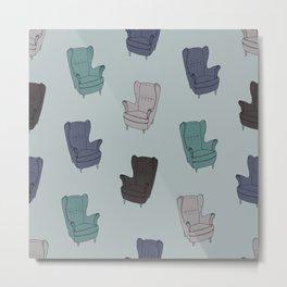 Seventies Armchair Pattern - Version 2 #society6 #seventies Metal Print