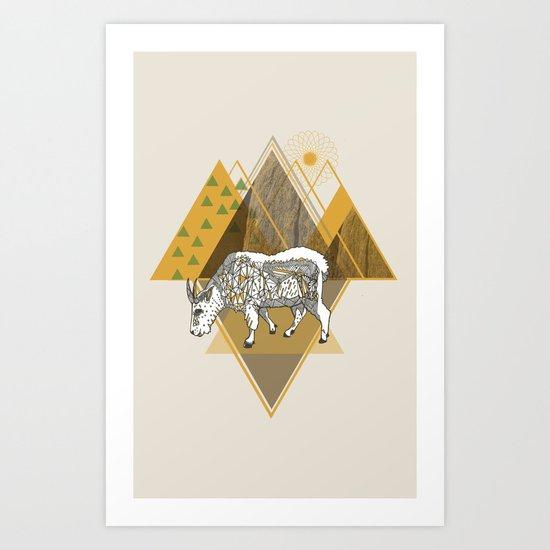 Mountain Goat Art Print