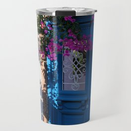 Greek Santorini Doors Travel Mug