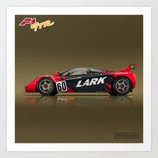 1996 McLaren F1 GTR #13R LARK Art Print