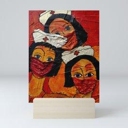 Masked in Fear Mini Art Print