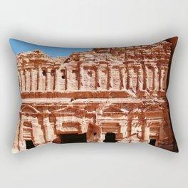 Palace of Petra Nabatean Kingdom Ruins Rectangular Pillow