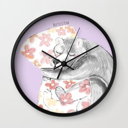 Would you be my sleepy bear? #3 Wall Clock