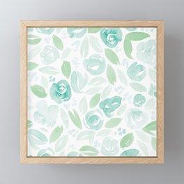 Floral Pattern #2 | Green Palette Framed Mini Art Print