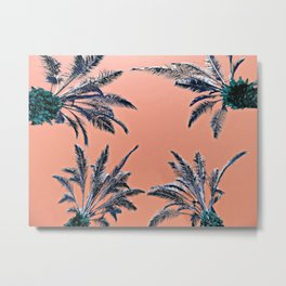 Palms (peach) Metal Print