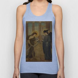 "Edward Burne-Jones ""Cupid and Psyche - Palace Green Murals - Psyche entering the Portals of Olympus"" Unisex Tank Top"
