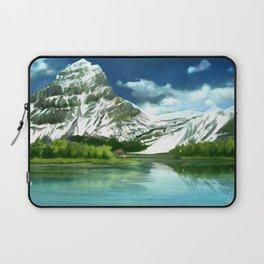 Mountain and lake landscape Laptop Sleeve