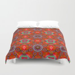 Abstract Flower Pattern AAA RRR BB Duvet Cover