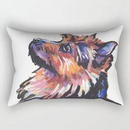 Fun Australian Terrier Dog Portrait bright colorful Pop Art by LEA Rectangular Pillow