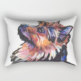 Fun Australian Terrier Dog Portrait bright colorful Pop Art by LEA Rectangular Pillow