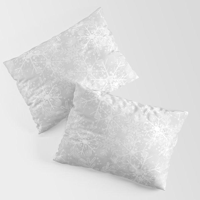 Silver Snowflakes Kissenbezug