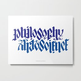 Philosophy, Art & Science Metal Print