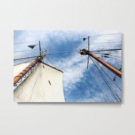 Masts of the Schooner Virginia Metal Print