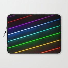 Rainbow Neon Stripes Laptop Sleeve