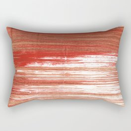 Medium carmine abstract watercolor Rectangular Pillow