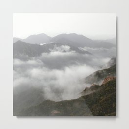 landscape mountains clouds over the clouds Metal Print