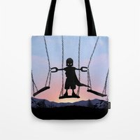 magneto Tote Bags featuring Magneto Kid by Andy Fairhurst Art