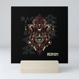Dark Ronin Japanese Mask Mini Art Print