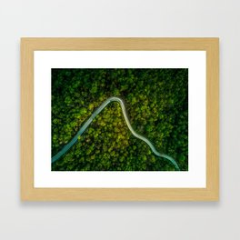 Road Less Travelled - Empty Mountain Road Thailand Framed Art Print