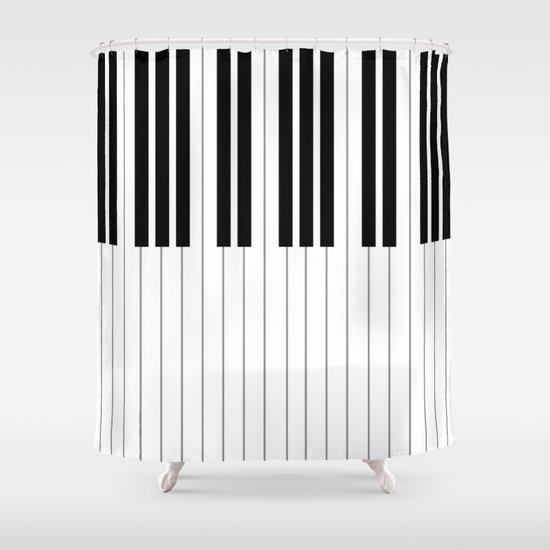 "Chopin - Prelude Op. 28 No. 15 ""Raindrop"" Shower Curtain"