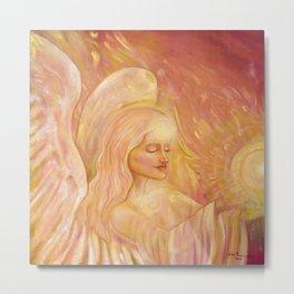 Angel of light, beautiful angel Metal Print