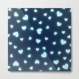 Blue Hearts Metal Print