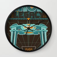 tron Wall Clocks featuring Tron Legacy by HomePosters