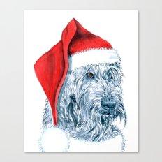 Santa Labradoodle Canvas Print