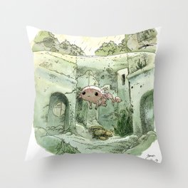 Axolotl Throw Pillow