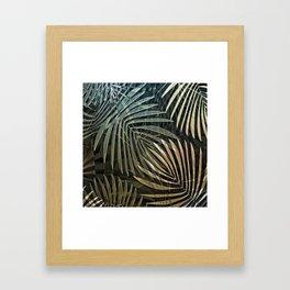 Tropical Palm Print Multi-Colored Framed Art Print