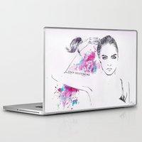 cara delevingne Laptop & iPad Skins featuring Cara Delevingne by Megan Sheridan