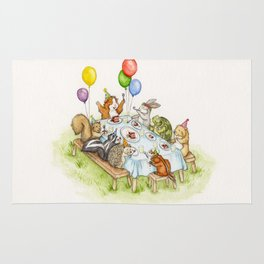 Birthday Party Picnic Rug