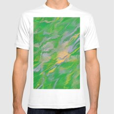 Pearl Green Water White MEDIUM Mens Fitted Tee