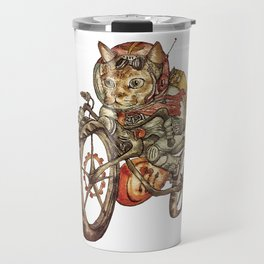 Berserk Steampunk Motorcycle Cat Travel Mug