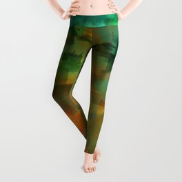 """""""Abstract forest in Autumn"""" Leggings"""