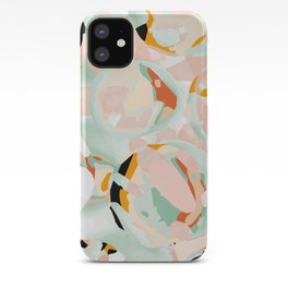 abstraction study in pastels iPhone Case