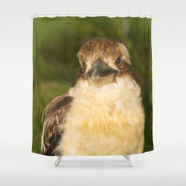 Painted laughing kookaburra Shower Curtain