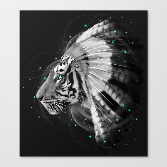 Don't Define the World (Chief of Dreams: Tiger ) Tribe Series Canvas Print