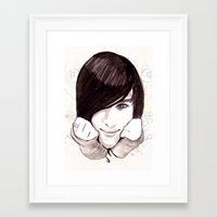 robert farkas Framed Art Prints featuring Robert by hoshi-kou