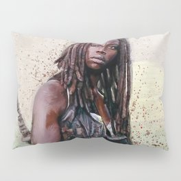 Michonne On The Walls Of Alexandria - The Walking Dead Pillow Sham