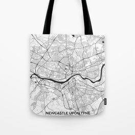 Newcastle upon Tyne Map Gray Tote Bag