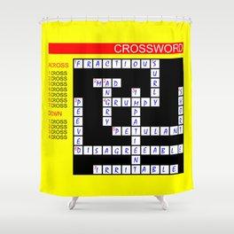 Crossword Shower Curtain