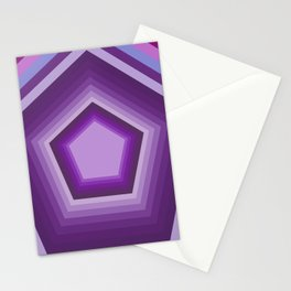Mystic Purple Pentagon Abstract Art Stationery Cards