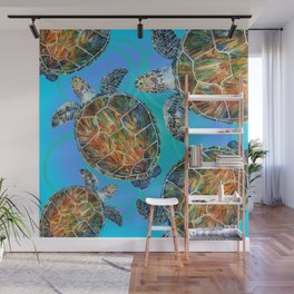 Turtle sea Wall Mural