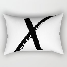 Letter X Ink Monogram Rectangular Pillow