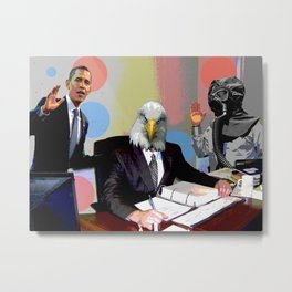 Eagle at the Office Metal Print