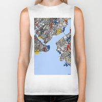 mondrian Biker Tanks featuring Istanbul mondrian by Mondrian Maps
