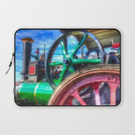 Clayton and Shuttleworth Traction Engine Art Laptop Sleeve